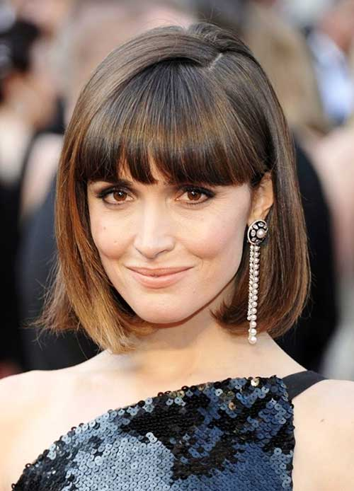Rose Byrne Straight Hair with Bangs