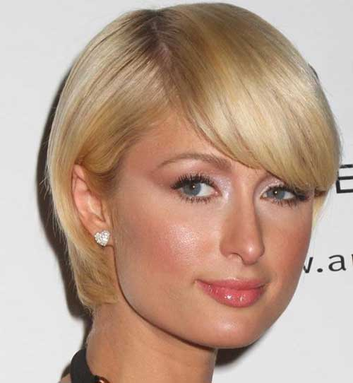 Short Blonde Straight Haircut for Fine Hair
