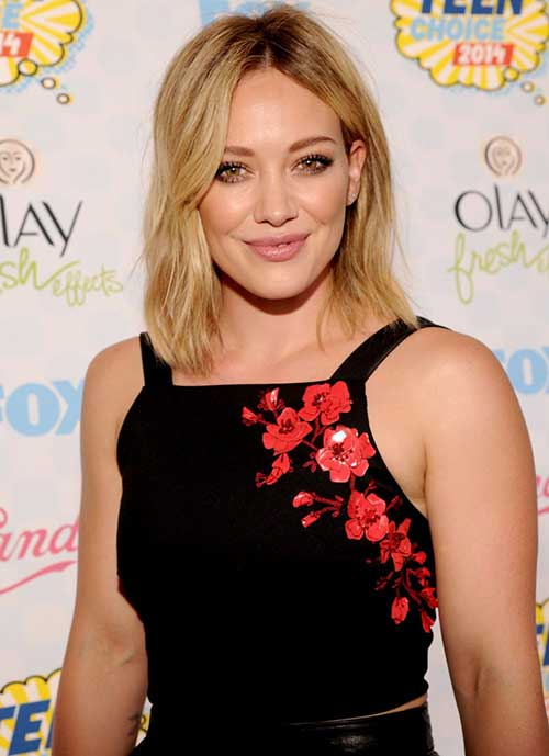 Hillary Duff Short Haircuts for Fine Thin Straight Hair