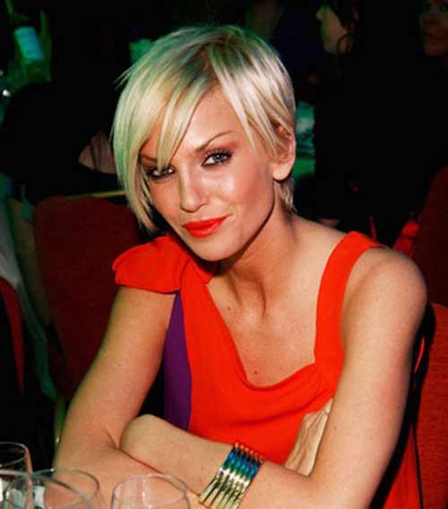 Sarah Harding Short Haircuts with Straight Bangs
