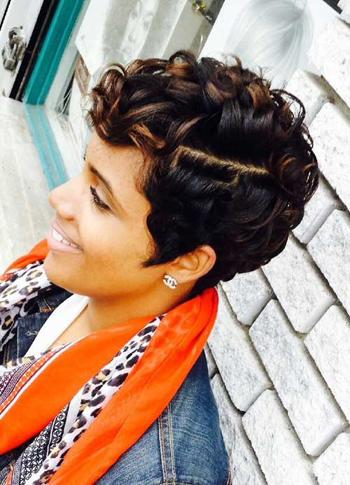 Short Curly Hairstyles for Black Women 2015