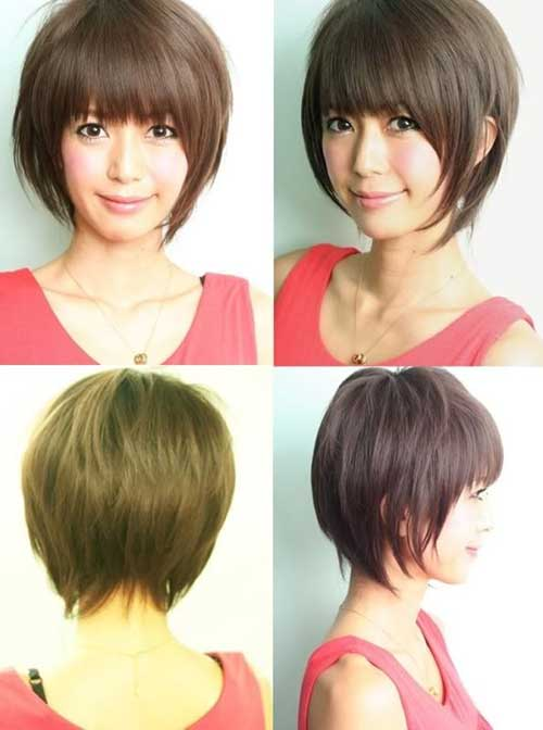 Asian Girl Short Hairstyles for Straight Hair with Bangs