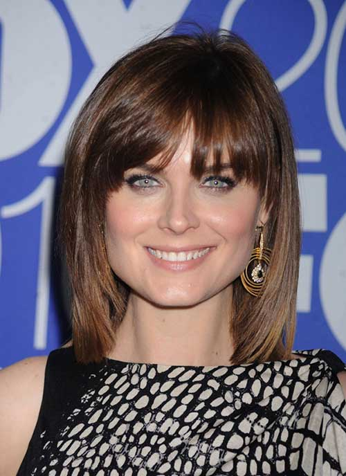 Short Layered Hair with Thin Bangs for Women