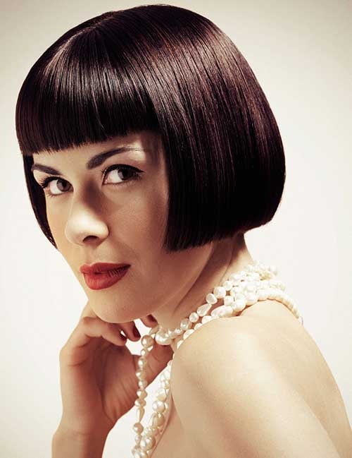 Best Short Straight Blunt Bob with Bangs