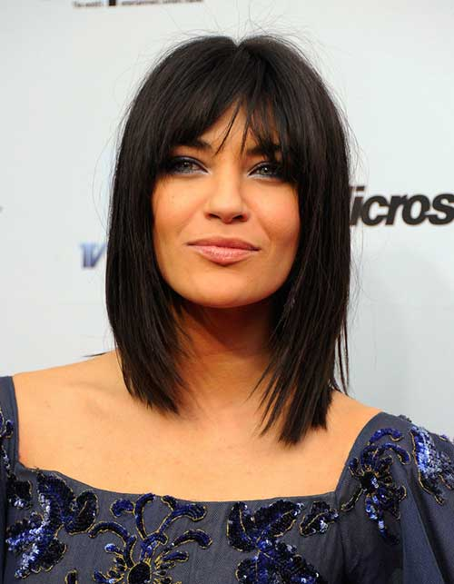 Short To Medium Hairstyles For Women Over 50: Short Straight Hairstyles With Bangs