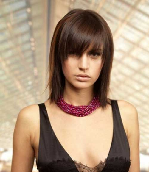 Short to Medium Straight Hair with Side Bangs