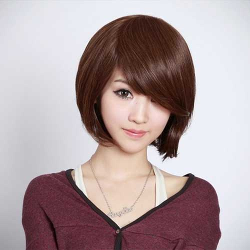 Short Straight Hairstyles With Bangs Short Hairstyles