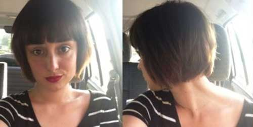 Trendy Short Straight Hair with Bangs