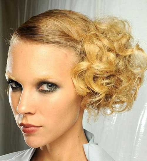 Updo for Short Curly Hairstyles