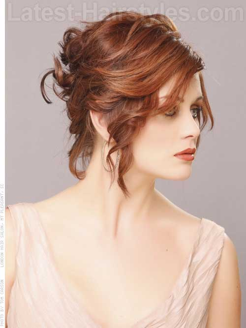 updo styles for short hair 14 hair updo for wedding hairstyles 2017 4527 | Wedding Updos Short Hair
