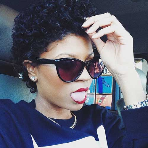 Afro Hairstyles For Dark Short Hair
