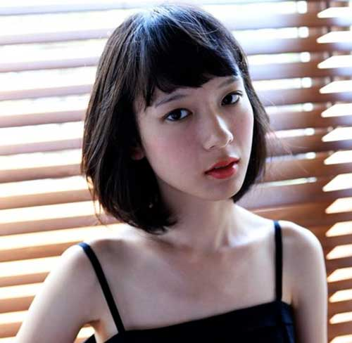 Best Asian Short Haircuts with Bangs