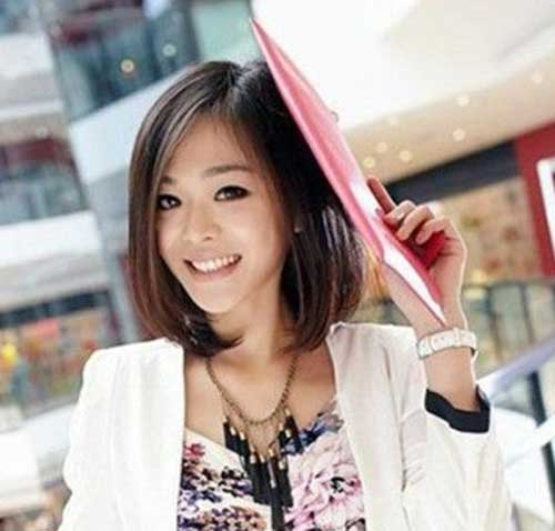 Asian Woman With Short Bob Hair