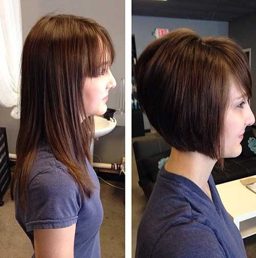 Best Cute Stacked Bob Hair Cuts