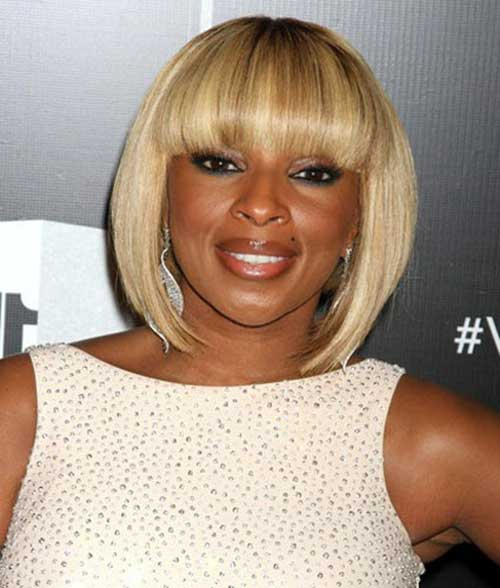 Best Blonde Bob Hairstyle with Bangs for Black Women Over 40