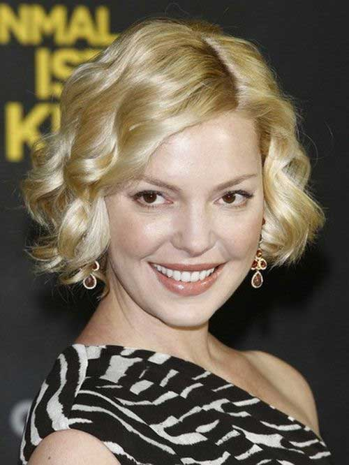 Best Blonde Curly Bob Hair Round Face