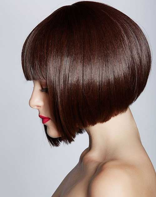 Brown Blunt Bob Hair