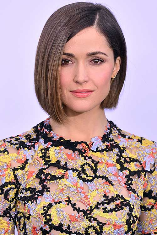 Brown Bob with Simple Haircut
