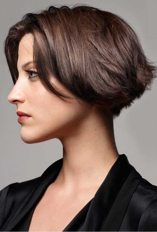 Brown Layered Bobs