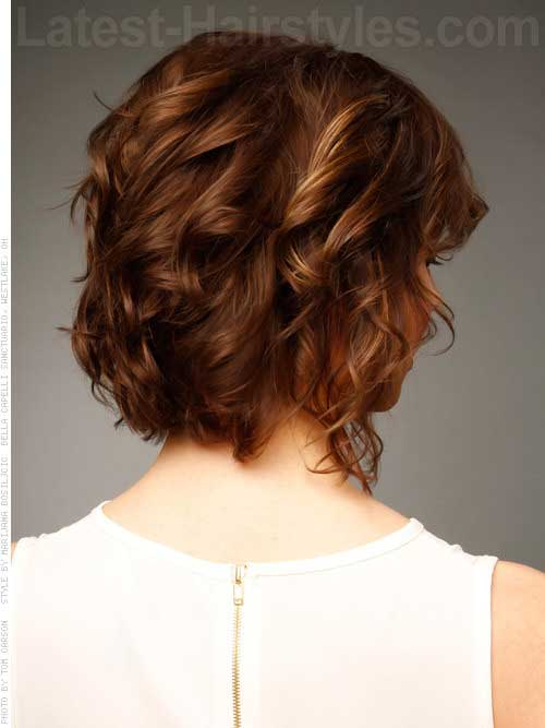 Brown Curly Bob Hair