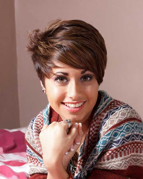 Brown Pixie Cut Hair