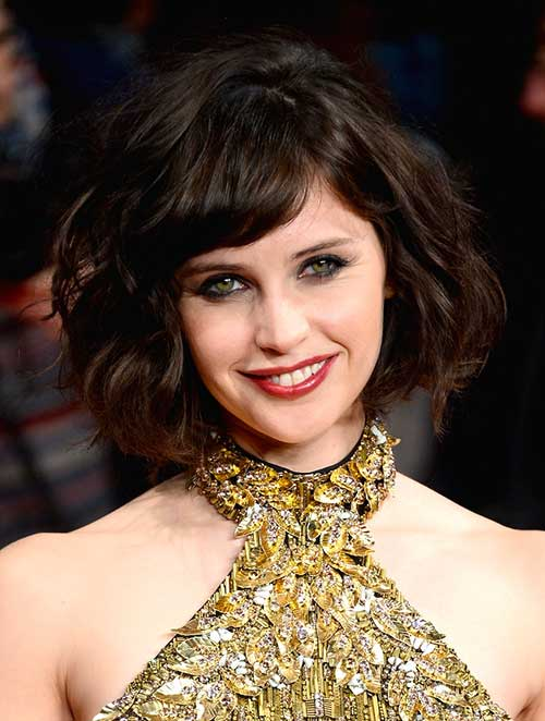 Brunette Curly Bob Hairstyles Idea