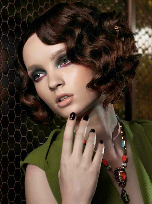 Brunette Curly Bob Hairstyles
