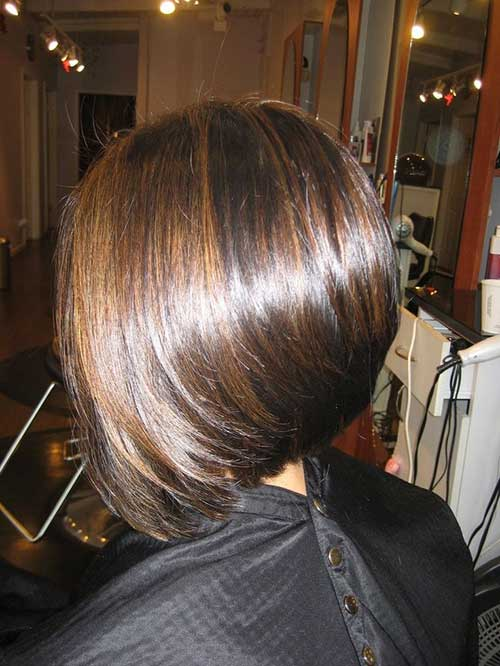 Brunette Straight Bob Hairstyles