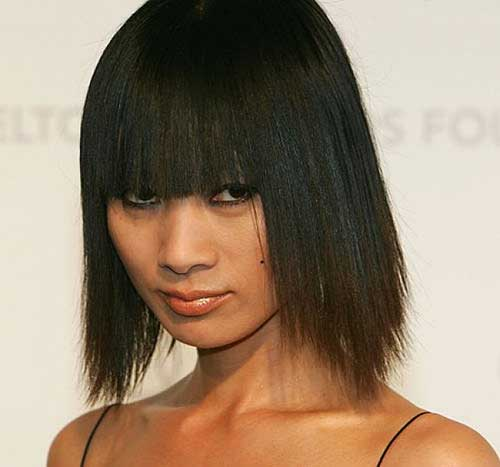 Best Chinese Bob Haircut with Bangs