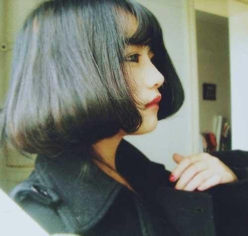 Chinese Dark Bob Hairstyle