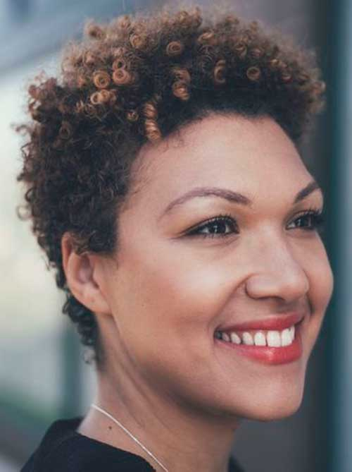 Curly Frizzy Short Hairstyles