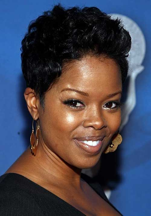 Outstanding Short Hairstyles For Black Women With Round Faces Short Hairstyles For Men Maxibearus