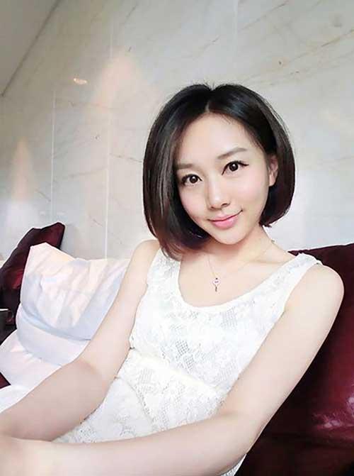 Best Cute Bob Short Haircut for Asian Girls