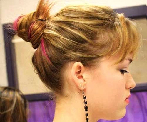 Cute Bun Idea for Short Hairstyles