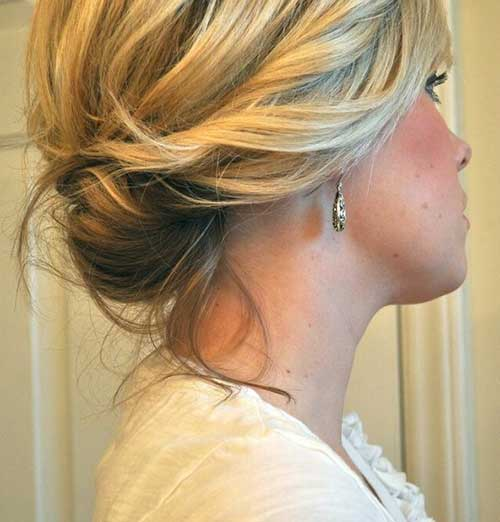 Cute Bun for Short Hairstyles