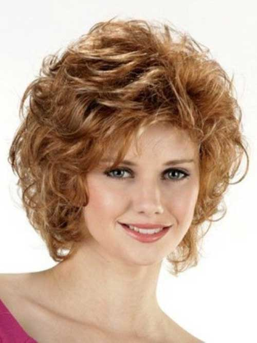 Super Best Curly Short Hairstyles For Round Faces Short Hairstyles Hairstyles For Women Draintrainus