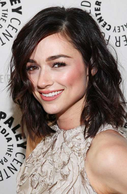 Cute Dark Short Medium Hairstyles