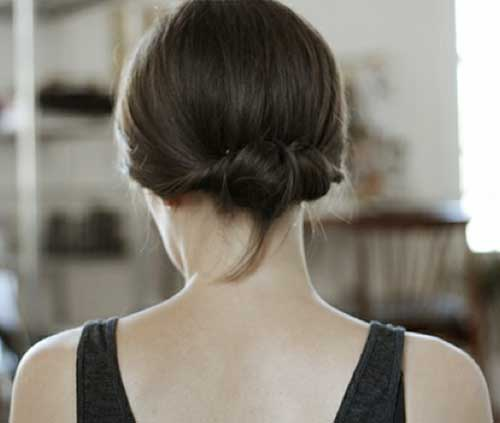 Cute Simple Hair Buns For Short Hair