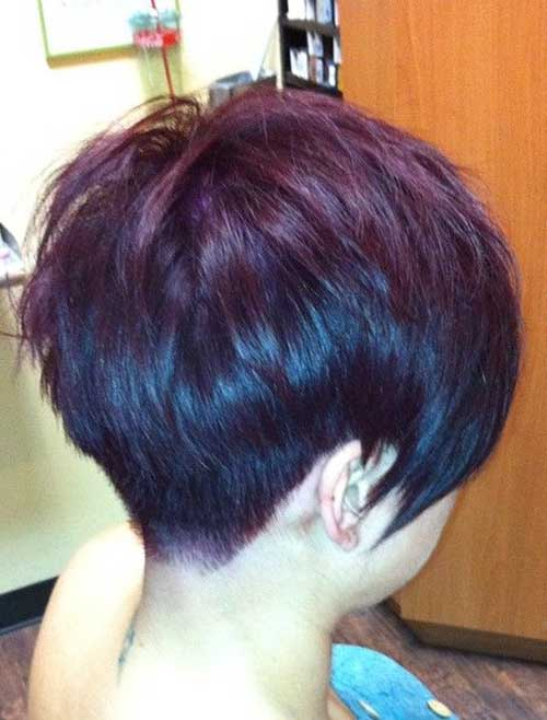 Cute Layered Pixie Back View