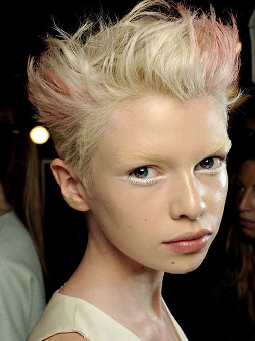 Best Cute Pixie Blonde and Pink Hairstyles