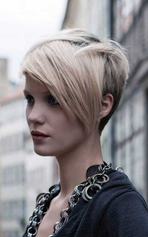 Cute Short Layered Pixie with Long Bangs
