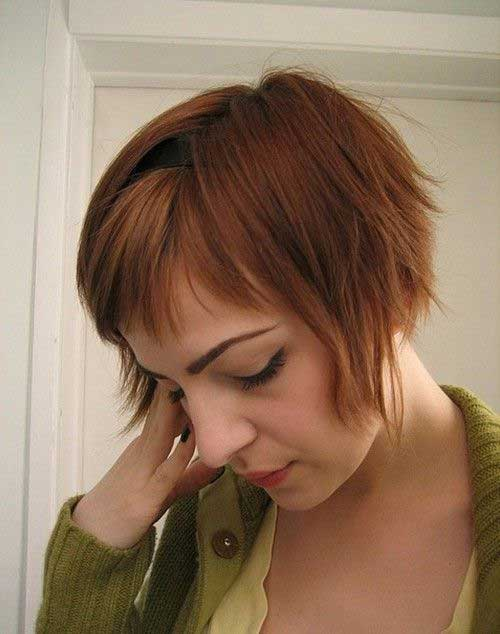 Cute Short Layered Thin Hair Ideas with Bangs