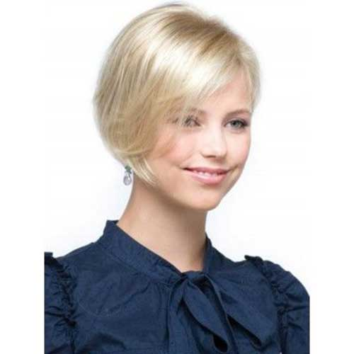 Cute Short Thin Blonde Bob Hairstyles