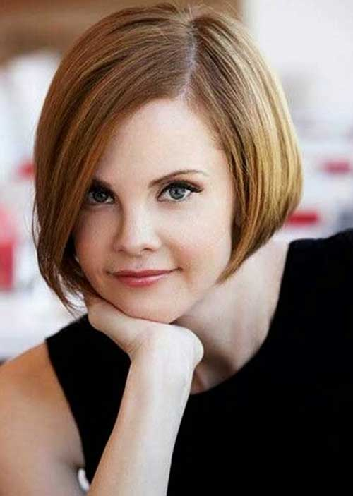 Cute Short Thin Brown Bob Hairstyles