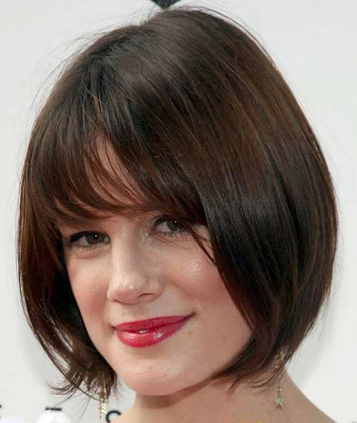 Dark Brown French Bob Hairstyles
