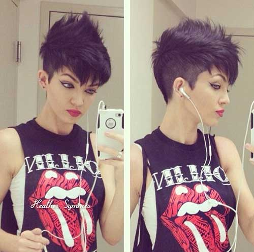 Dark Pixie Cut Ideas for Women