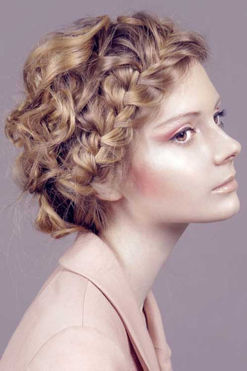 Braided Easy Short Hairstyles For Curly Hair
