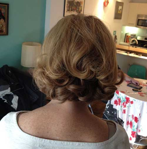 Elegant Hairstyles for Short Blonde Curly Hair Type