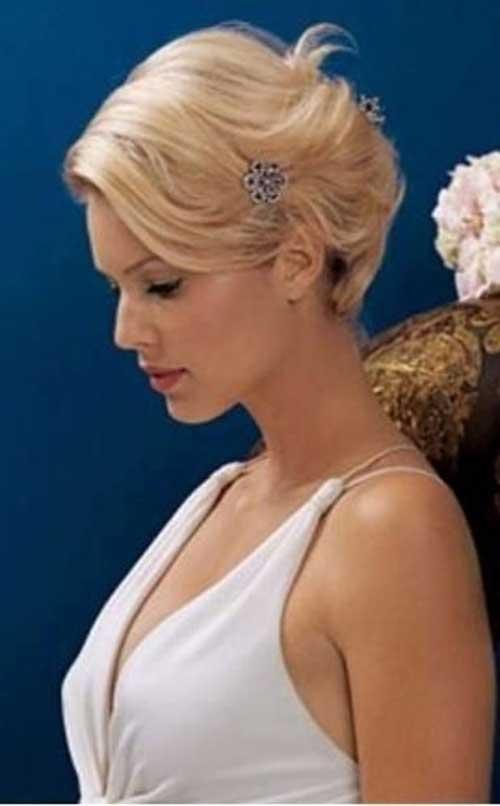 Elegant Short Blonde Updo Hairstyles