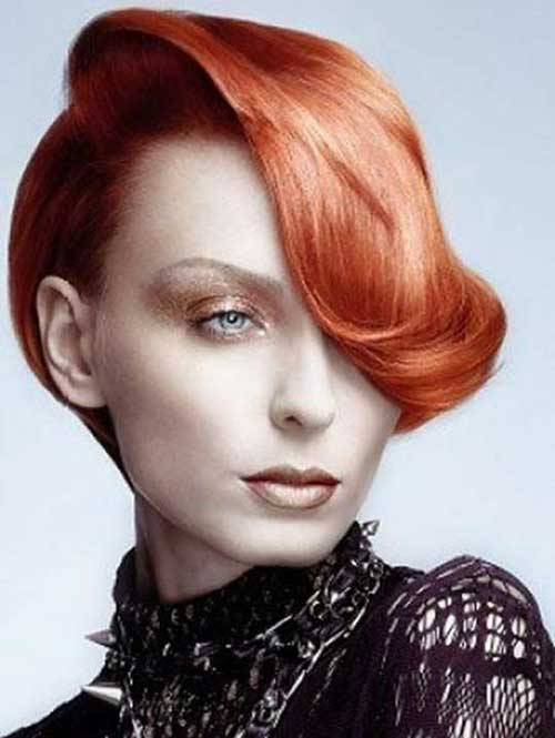 Elegant Short Ginger Hairstyles